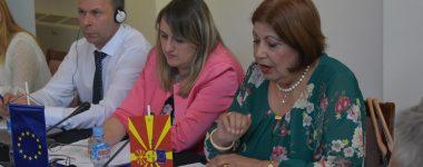 Retired judge Milka Ristova during her speech
