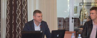 Slovak expert presenting