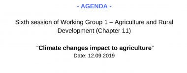 Agenda WG1 6 session