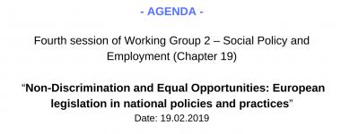 Agenda WG2 4 session