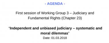 Agenda WG3 1 session