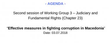Agenda WG3 2 session