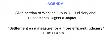 Agenda WG3 6 session