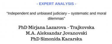 Expert analysis Lazarova, Kacarska and Jovanovski