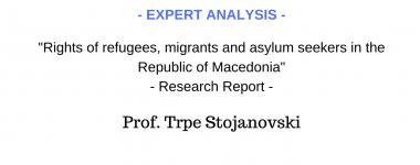 Expert analysis Trpe Stojanovski