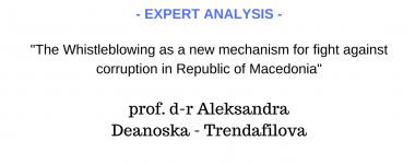 Expert analysis Aleksandra Deanoska