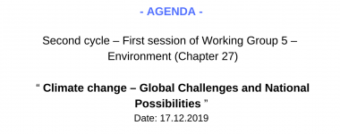Agenda WG5 1 session 2 cycle