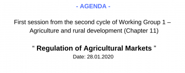 Agenda WG1 1 session of the 2 cycle