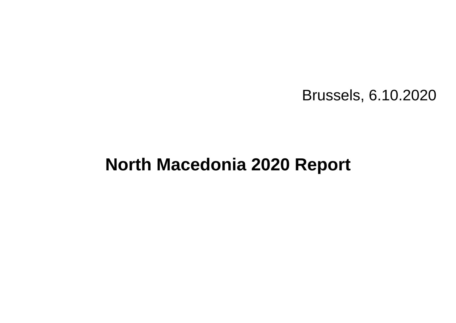1. North Macedonia 2020 Report