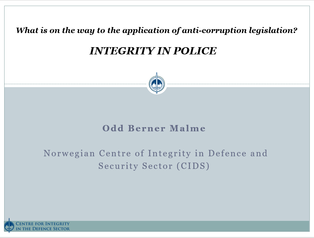 Centre for Integrity in the defence sector