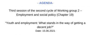 Agenda WG2 session 3